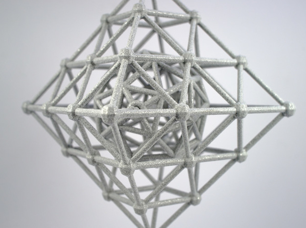Diamond Spinning Ornament 3d printed Printed in Polished Alumide
