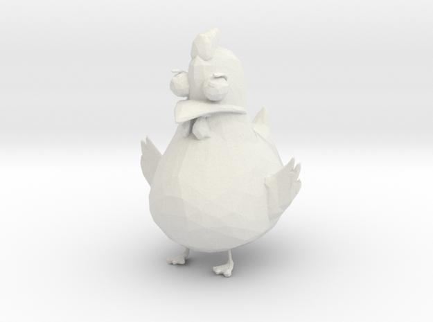 Chicken in White Natural Versatile Plastic