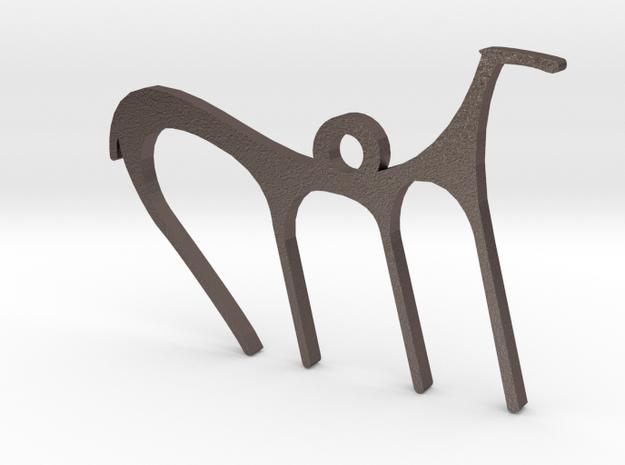 Anatolian Horse Steel in Polished Bronzed Silver Steel