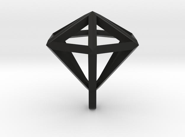 Diamant pendant 3d printed Translucide 1