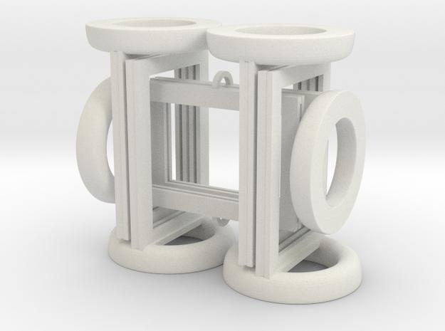 Token Frames - Set of Six in White Natural Versatile Plastic
