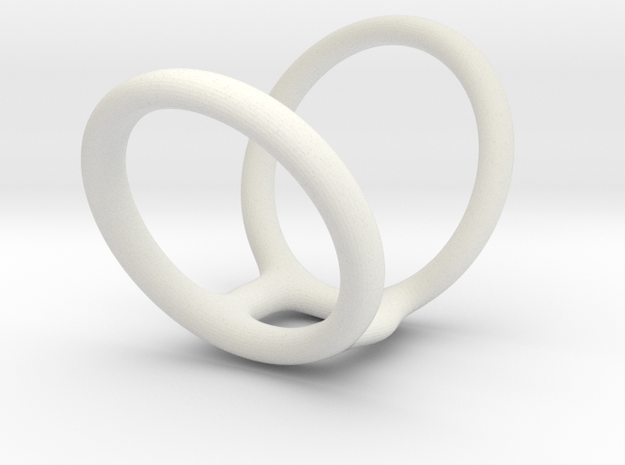 Ring splint sizes 5/5 to 8/5 length 34 mm  in White Natural Versatile Plastic