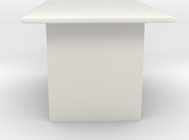 Computer Desk in White Natural Versatile Plastic: Extra Large