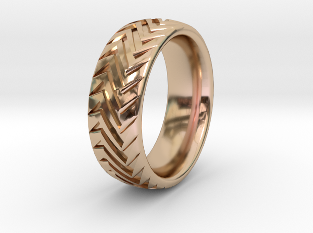 Ripper 1  in 14k Rose Gold Plated Brass: 9 / 59