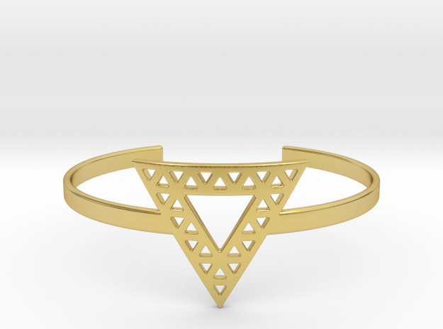 Vértice Open Triangle Cuff in Polished Brass