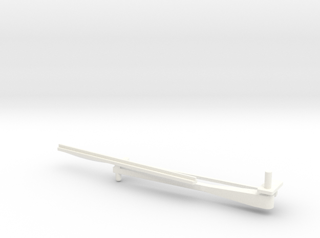 Whirlwind Wiper 80mm Left in White Processed Versatile Plastic