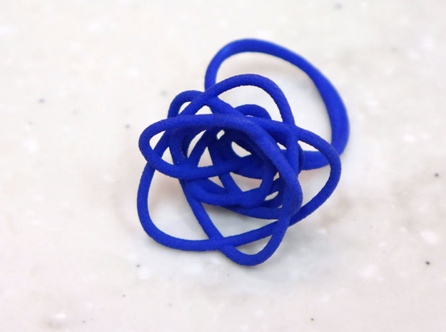 Sprouted Spiral Ring (Size 9) 3d printed Blue Strong and Flexible
