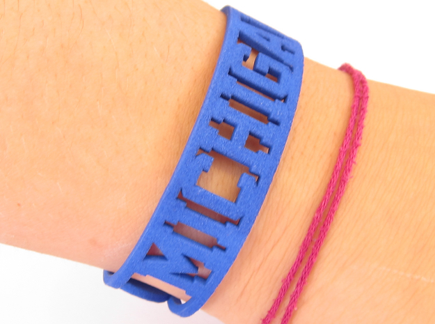Michigan Cuff in Blue Processed Versatile Plastic