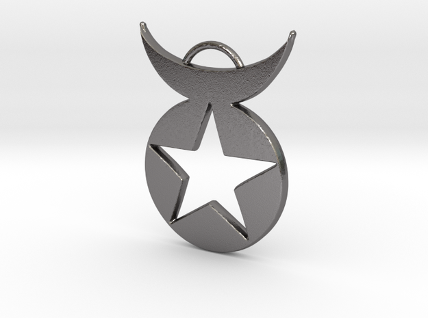Star Emblem pendant in Polished Nickel Steel