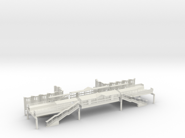 WEST PHILA MARKET ST EL STA Block N Scale  in White Natural Versatile Plastic