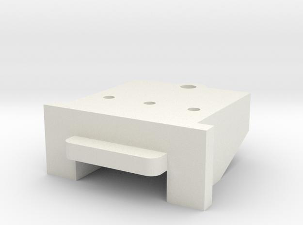 Lionel O Scale FM H16-44 Coupler Mount in White Natural Versatile Plastic