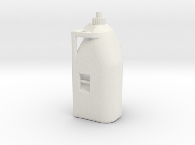 Race Fuel Can in White Natural Versatile Plastic