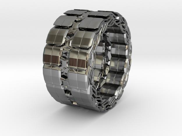Ybead 2 Invert RING in Premium Silver: 10 / 61.5
