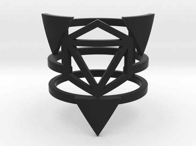 Zero Point Multiband Ring in Black Natural Versatile Plastic