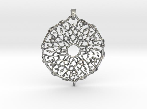 Dreamcatcher in Natural Silver (Interlocking Parts)