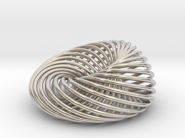 [Pendant]Nest in Rhodium Plated Brass