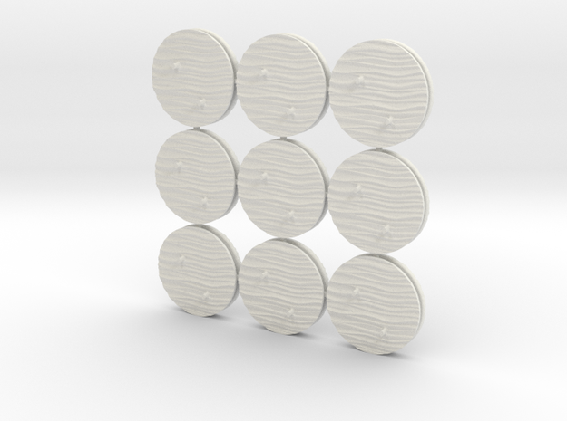 12AT01 aircraft bases x18 in White Natural Versatile Plastic