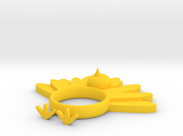 Turkey Napkin Ring in Yellow Processed Versatile Plastic