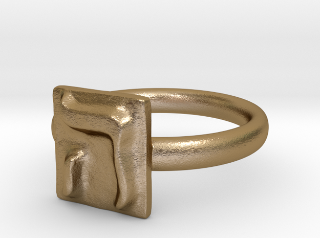 05 He Ring in Polished Gold Steel: 7 / 54