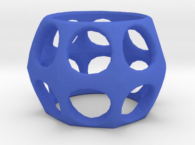 Ring - Holes 2 - Narrow in Blue Processed Versatile Plastic