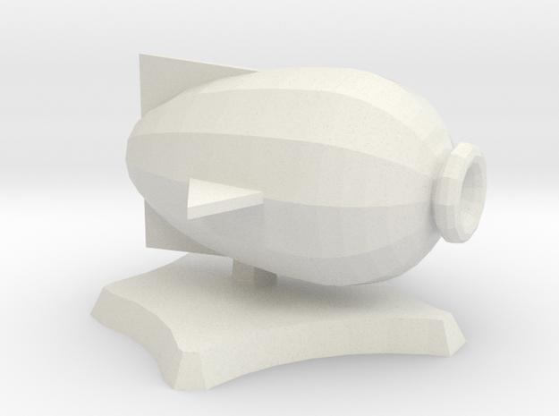 Puffer, miniature airship in White Natural Versatile Plastic