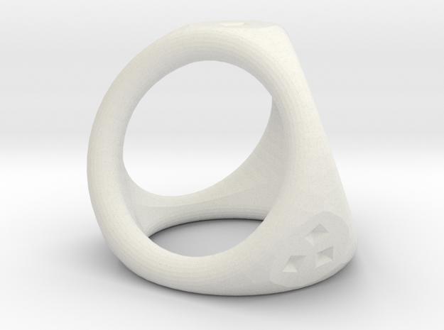 D4 ring in White Natural Versatile Plastic