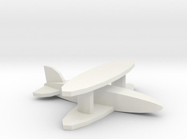 Fighter biplane in White Natural Versatile Plastic