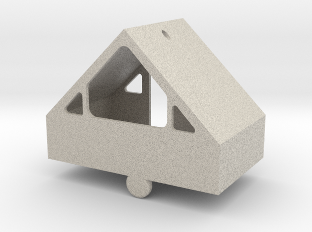 3-D A-Frame Ornament in Sandstone