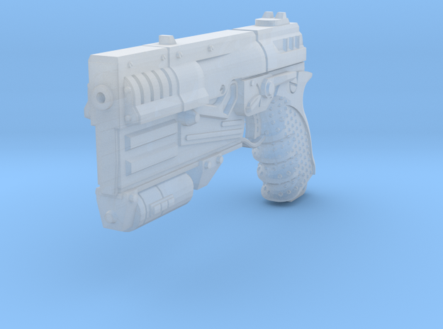1/6 Sci-Fi Game Pistol  in Smooth Fine Detail Plastic