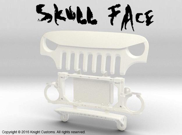 AJ30006 Skull Face Grill & Mount