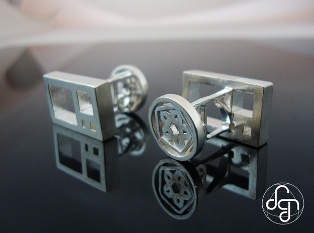 Golden Ratio Cufflinks in Polished Silver