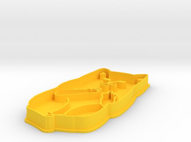 Cat Bird in Yellow Processed Versatile Plastic