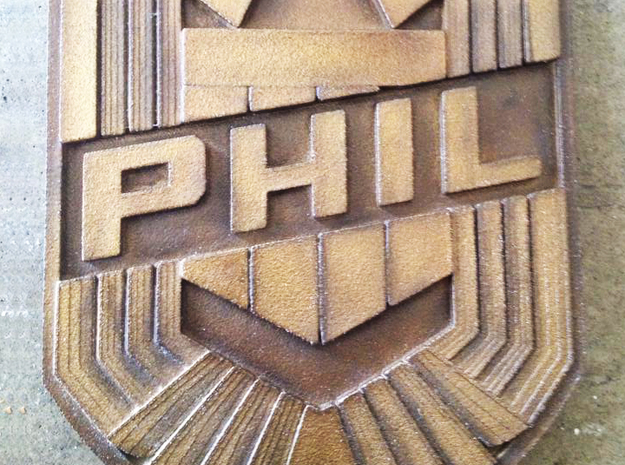 Dredd Badge with your name 1/1 Scale 3d printed Customer's badge after painting