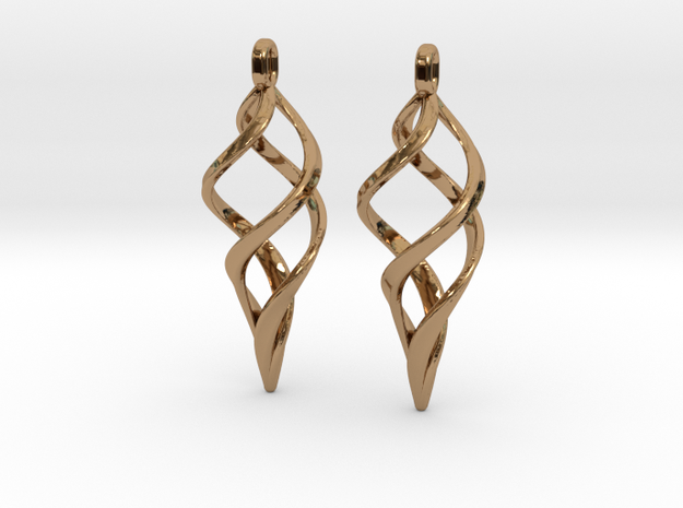 Kaladesh Earrings set in Polished Brass