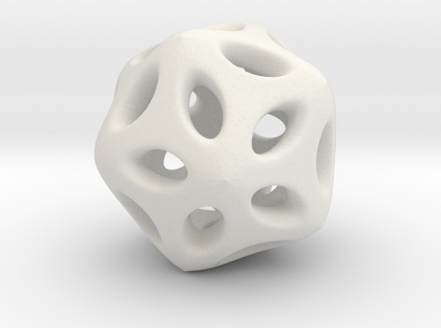Hollow Hedra in White Strong & Flexible