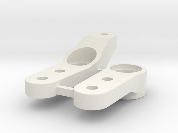 0002 - Astute D2+3 Steering Arms in White Strong & Flexible