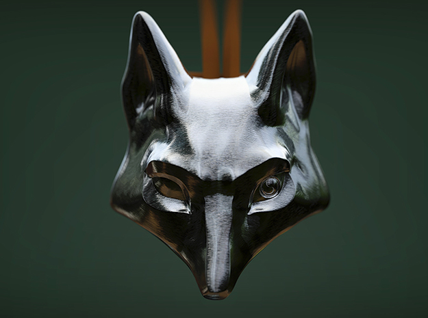 Foxhead Medallion in Polished Bronzed Silver Steel