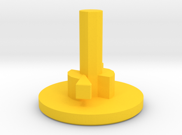 M4 Magazine Spring Cap (Long Stem) in Yellow Processed Versatile Plastic