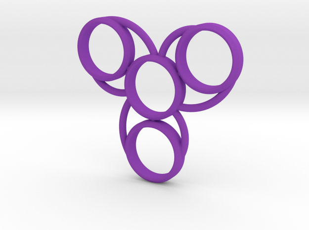 Hand Spinner Quad in Purple Strong & Flexible Polished