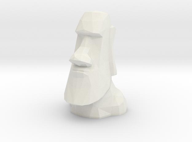 Moai LED Tea Light Holder in White Strong & Flexible