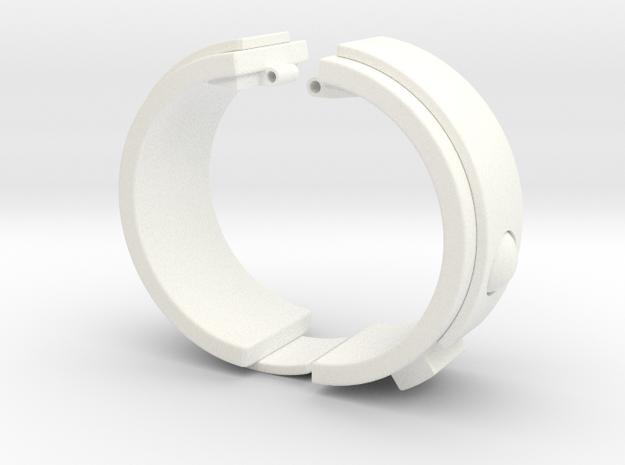 Blake's 7 Teleport Bracelet Series 1 in White Strong & Flexible Polished