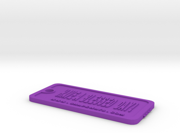 Tag-6-vc in Purple Processed Versatile Plastic