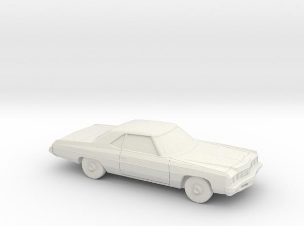 1/87 1973 Chevrolet Impala Sport Coupe in White Natural Versatile Plastic