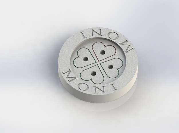 Small Shirt Button in White Acrylic
