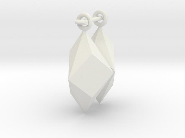 Shard Earrings in White Natural Versatile Plastic