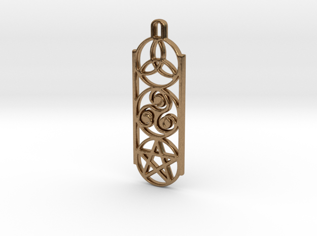 Symbols 1 by ~M. Keychain in Natural Brass