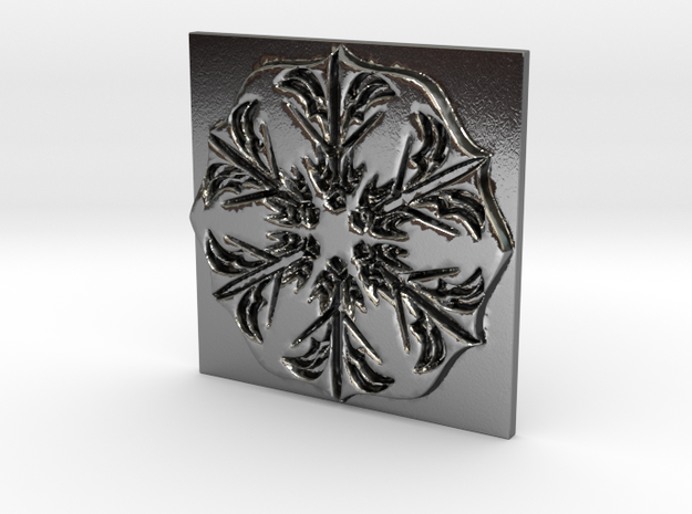 Snowflake in Polished Silver: Extra Small