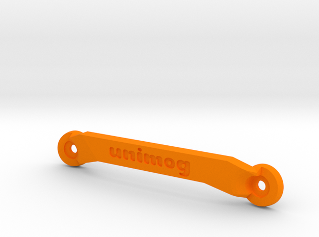 CW01 Chassis Brace - Front - Unimog in Orange Strong & Flexible Polished
