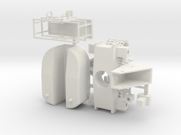 Boom Lift 1-64 Scale Hollow in White Natural Versatile Plastic