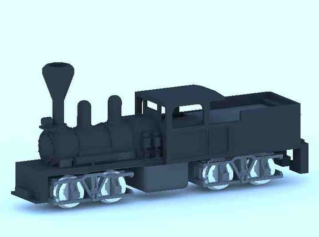 Shay Steam Locomotive Shell in Smooth Fine Detail Plastic